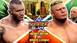 wwe summerslam 2016 brock lesnar vs randy orton wwe 2k16 epic highlights you