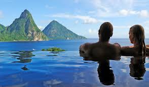 infinity pools. Jade Mountain St Lucia - Sanctuaries Infinity Pools