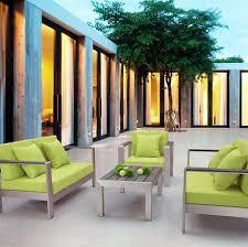 cosmopolitan aluminum outdoor set from zuo modern