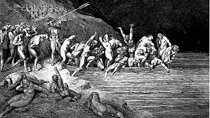 playing the poem a tour of visceral s dante s inferno gustave dore charon herds the sinners onto his boat 1890