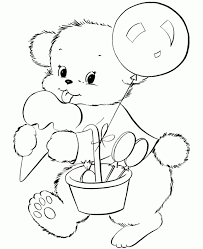 Christmas Teddy Bear Coloring Pages | DesignCorner