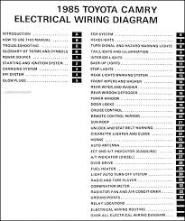 1985 toyota camry le wiring diagram 1985 diy wiring diagrams 1985 toyota camry wiring diagram manual original