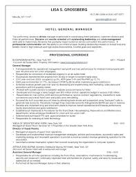 Sample Hotel Manager Resume Hotel Reservations Manager Resume Catering Example Restaurant Senior