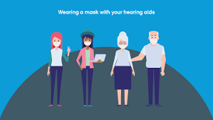 facemask with hearing aids hearing