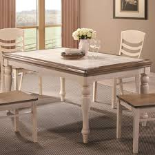 Coaster 106451 Allston Antique White Rectangular Cottage Dining Table