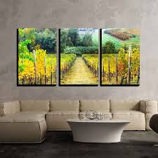 beautiful autumn landscape with vineyards tuscany italy x3 panels favorite canvas art on tuscan vineyard wall art with beautiful autumn landscape with vineyards tuscany italy x3 panels