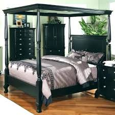 Queen Canopy Bed Wood Full Size Beds – implair