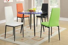 kitchen dining room dining chairs set faux leather metal