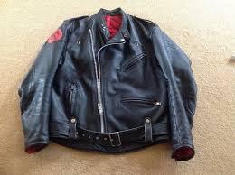 vintage manx leather motorbike jacket