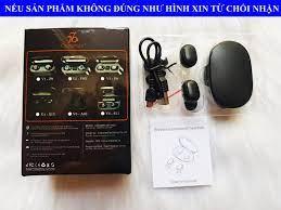 Tai Nghe Bluetooth 5.0 CAPARIES V5 A6S - (Tai Nghe Không Dây) Chống Nước - Chống  ồn - Tích Hợp Micro - Tự Động Kết Nối - Nhỏ gọn - Âm Thanh