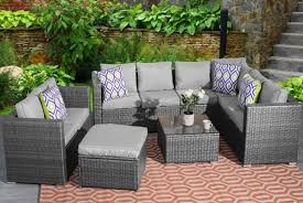 9 seater rattan garden furniture set optional cover 2 colours