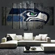 seattle wall art sport team seattle seahawks logo painting wall art modular picture canvas paintings for seattle wall art