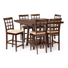 modern pub table. Baxton Studio Katelyn Modern Pub Table Set - 7 Piece Dining | Room Furniture Affordable In Chicago