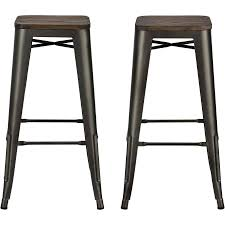 elegant natural wood backless bar stools counter height light distressed for black iron bar stools