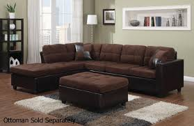 brown sectional sofas. Plain Sofas Mallory Brown Leather Sectional Sofa For Sofas StealASofa Furniture Outlet