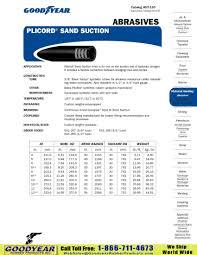 Goodyear Plicord Sand Suction Abrasive Handling Hose