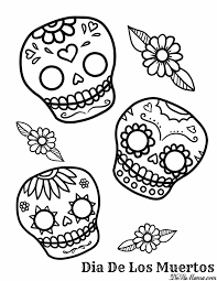 Free Day Of The Dead Coloring Pages With Free Christmas Printable