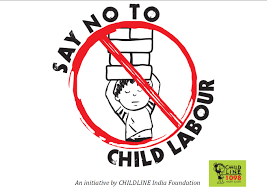 say no to child labour  the poster