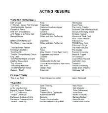 Actors Resume Template Inspiration Actor Resume Template Word Resume Template For Actors Marvellous How