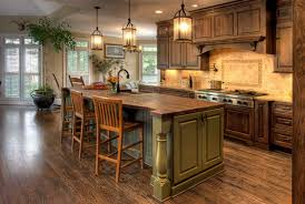 Travertine Kitchen Backsplash L Shape Rustic Kitchen Decoration Using Travertine Tile Kitchen