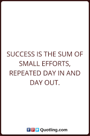 accessories dream quote wall success quotes success is the sum of small efforts repeated day in and