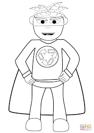 Small Picture Recycling Superhero coloring page Free Printable Coloring Pages