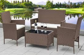 <b>4</b>-<b>Piece</b> Rattan <b>Garden</b> Furniture Deal | Shop | Wowcher