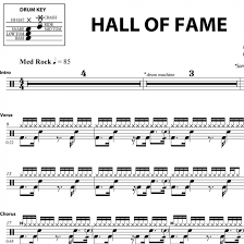 Hall Of Fame The Script Drum Sheet Music