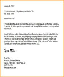 Job Experience Letter Sample From Employer Pd As Company Employment
