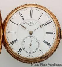antique gold pocket watches heavy 14k gold 151g henry beguelin 18s mens hunter antique diamond pocket watch