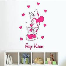 minnie mouse wall decals custom vinyl wall decals nursery beautiful custom baby girl name vinyl art