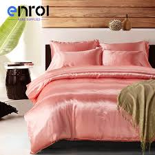 high quality duvet cover set colorful solid color bedding sets suppliers silk double queen king