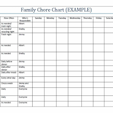 Household Chore Chart Household Chore Printable Family Chore Charts Template More Within