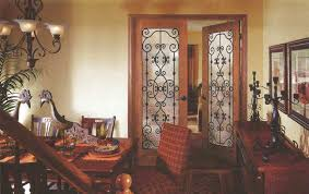 interior french doors with glass and stained