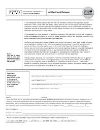 Affidavit and Release Sample Format 3