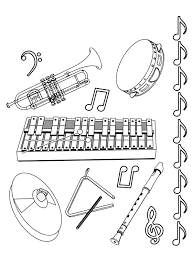 Kids Under 7 Musical Instruments Coloring Pages Musical Instruments