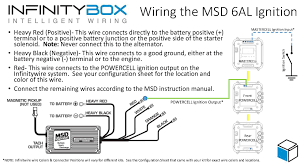wiring the msd ignition system • infinitybox picture of wiring diagram showing how to wire ignition power to the msd 6al from the