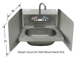 Wall Mount Splash Guard For Hand Sinks Gsw