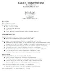 Sample Resume Teaching Cover Letter Sample Resume Teacher Resumes