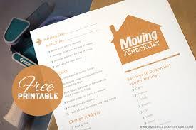 Free Printable Moving Checklist Free Printable Moving Checklist Blog Botanical Paperworks