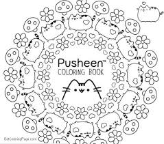 Pusheen Coloring Pages Stamping Pattern Get Coloring Page