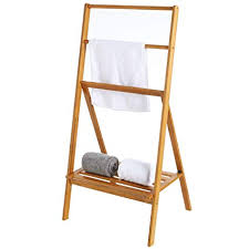 Image Freestanding Towel Image Unavailable Amazoncom Amazoncom Mygift Freestanding 43inch Bamboo Folding Towel Stand