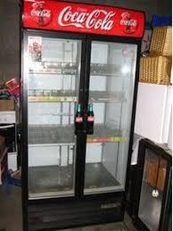 Double Door Drinks Fridge Secondhand Shop Equipment Drinks Display Fridges