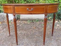 georgian style inlaid mahogany console table by archer smith