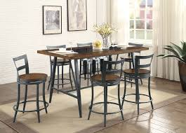 dining tables pub height dining table 9 piece counter height dining set dark brown rectangle