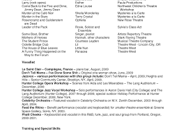 Talent Resume Examples Musical Theatre Resume Template Actor
