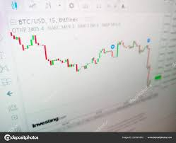 Bitcoin Cryptocurrency Rate Chart Stock Photo