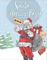 Free to download and print. Santa Coloring Pages 70 Christmas Coloring Books For Kids With Reindeer Snowman Christmas Trees Santa Claus And More Countdown To Christmas Book The Coloring Book Art Design Studio 9781792118395 Amazon Com Books
