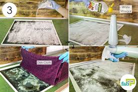 cover your stove top with baking soda