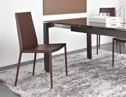 calligaris dining chair. Boheme Modern Connubia Calligaris Dining Chair In Coffee Reg Leather, Other Options Thumbnail Y